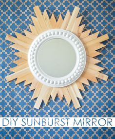 DIY Wooden Sunburst Mirror