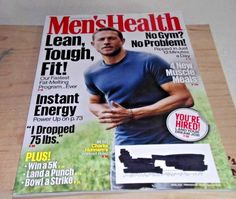 CHARLIE HUNNAM  Men's Health Magazine April 2017 Clean and Unread Condition