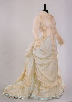 "Afternoon dress ca. 1876 from ""Impressionism and... - Fripperies and Fobs"