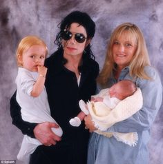 Family: Michael (holding Prince) and Debbie (holding Paris) were married for three years