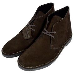 We look at your feet first. Dress them well. Clark Desert Boots, Brown