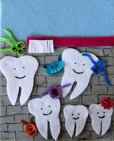 Monsters and Teeth Felt Creation