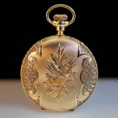 American Waltham Antique 14k Yellow Gold Pendant Pocket Watch.