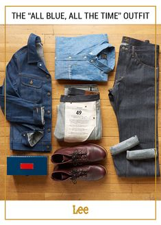 A great denim on denim outfit is all about pairing your denim shades well. Try mixing light, medium, and dark shades, like our Rider Jacket, button up tee, and 101 Jeans.