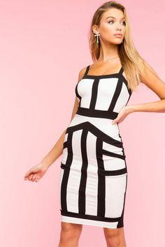 e0eabb7784 Colorblock Bodycon Dress
