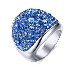 Upto 70% off for no reason! Just because we love u so much! Megan High Polish... here http://designin.us/products/megan-high-polished-stainless-steel-rhinestones-ring-blue?utm_campaign=social_autopilot&utm_source=pin&utm_medium=pin