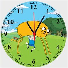 Adventure Time - Jake ve Finn Kendin Tasarla - Duvar Saati 27cm