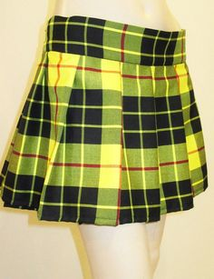 Menzies Red Plaid Pleated Skirt~Red Black Plaid Tartan Plus Size ...