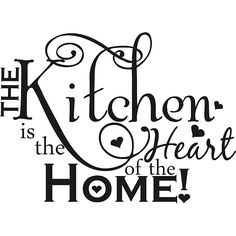 barbarasangi - Design on Style 'The Kitchen is the Heart of the Home' Vinyl Art Quote