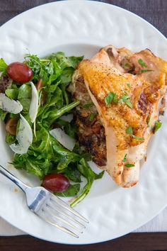 Stuffed Chicken Breasts with Grapes, Hazelnuts, and Parmesan