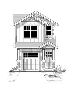 :: Havens South Designs :: likes this small house with a garage - House Plan 46245 Elevation Narrow Lot House Plans, Two Story House Plans, Family House Plans, Garage Apartment Plans, Garage House Plans, Craftsman House Plans, Car Garage, The Plan, How To Plan