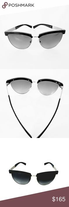 Versace 2169 Black Cat Eye Medusa Sunglasses NWOT Versace Black Cat Eye Medusa Sunglasses with gold tone hardware,  black gradient lenses,  arms Medusa style, lens width 56mm bridge 16mm Temple length 140mm frame color black lenses grey gradient,  frame style cat eye,  made of acetate  100% UV made in Italy Versace Accessories Sunglasses
