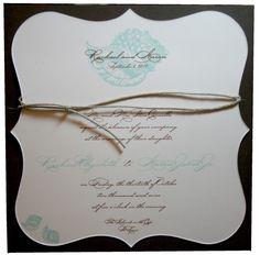 Beach Wedding Invitations: Seashells by the Sea Wedding Invitation