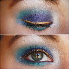 Agape Love Designs: Esmeralda Inspired Makeup. Ooh i Louvre the gold.