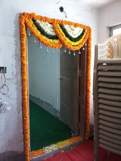When you're looking for flower decorators in Hyderabad or Wedding Stage Decoration, choose the best professionals. Door Flower Decoration, Home Flower Decor, Diwali Decoration Items, Diwali Decorations At Home, Wedding Stage Decorations, Background Decoration, Backdrop Decorations, Flower Decorations, Backdrops