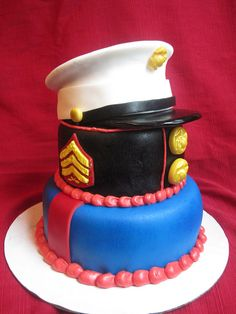 USMC Dress Blues cake by Charley And The Cake Factory, via Flickr