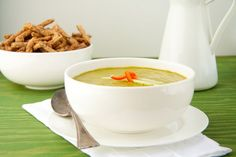 Blended soup made creamy with avocado and no dairy, best served chilled. Gluten-free, vegan, and no refined sugar!