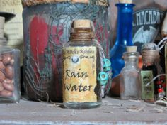 Rain Water Witch's Spell Ingredient Bottle by TheHauntingGrounds, $9.99