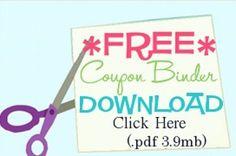 FREE Coupon Binder Printables