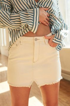 BDG Notched Denim Mini Skirt - Urban Outfitters