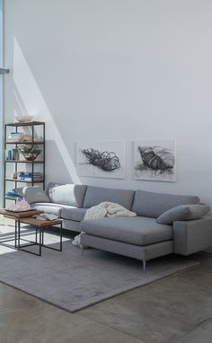 Modern and contemporary gray sectionals go with all kinds of decor!