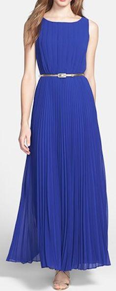 Gorgeous chiffon maxi dress for bridesmaids http://rstyle.me/n/eqxrunyg6