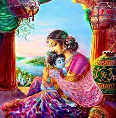Krishna and his mother Yoshoda Krishna Photos, Radha Krishna Images, Lord Krishna Images, Radha Krishna Photo, Krishna Pictures, Krishna Art, Lakshmi Images, Baby Krishna, Krishna Lila