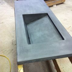 concrete bath vanity with integral sink