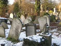Graves at Kensal Green Cemetery, London.  Opened in 1833 it marked a change in funereal practice. After an epidemic the small city church-yards were overflowing, and the solution was to build large cemeteries outside London.  There was even a special train that took the coffins there.