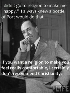 Great quote from C.S. Lewis.
