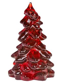 55 Classic Rich Ruby Red Glass Christmas Tree Hand Made in Ohio ** Click on the image for additional details.