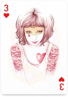 3 of Hearts by Mercedes deBellard