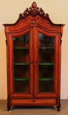 Elegant Sch nes Louis Philippe Vitrine aus Mahagoni gefertigt um Epoche Louis Philippe Holzart Mahagoni