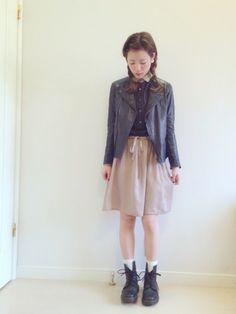 ライダース:LUCA・ 靴:used