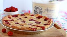 Make this fresh raspberry pie recipe including a flaky pie crush recipe perfect for a summer cookout or gathering. Get this pie recipe from PBS Food. Pie Recipes, Dessert Recipes, Cooking Recipes, Healthy Recipes, Potato Recipes, Just Desserts, Delicious Desserts, Yummy Food, Pbs Food