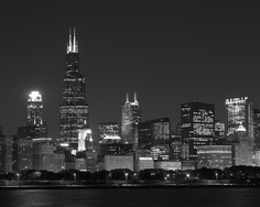 Chicago Skyline. Beautiful views from a Chicago boat cruise.