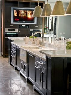 Sink And Dishwasher In Island Home Design Ideas, Pictures, Remodel and Decor