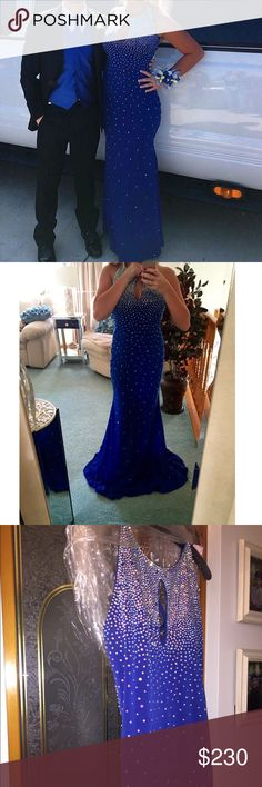 Beautiful jovani prom dress Beautiful blue prom dress wore once! Great condition! Like brand new! Won't find this nice of a dress for this cheap! Jovani Dresses Prom