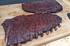 Delicious BBQ spare ribs for smoker and oven with sauce and .- Delicious BBQ spare ribs for smoker and oven (including sauce and spice mix) 13 Marinade Bbq, Steak Marinade Recipes, Grilled Steak Recipes, Barbecue Recipes, Grilling Recipes, Grilling Tips, Beef Recipes, Ribs On Grill, Bbq Ribs