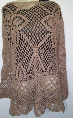 Blusa em crochê, trabalho totalmente manual. manga longa feito sob encomenda no tamanho é na cor desejada.
