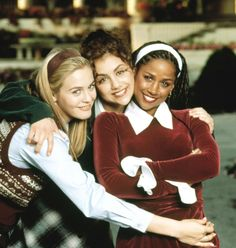Clueless - Alicia Silverstone, Brittany Murphy, and Stacey Dash - Have you ever seen three smiles that beautiful in one photo? Stacey Dash, Clueless Quotes, Clueless 1995, Dionne Clueless, Clueless Style, Clueless Aesthetic, Chick Flicks, Teen Movies, Mean Girls