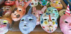Kašírované masky. Pictures