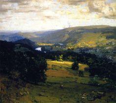 """The Delaware Valley,"" William Langson Lathrop, ca. 1899, oil  Brandywine River Museum."