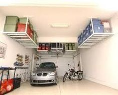 Find more below: DIY Overhead Garage Storage Ideas Projects Overhead Garage Storage Ceilings Decor How To Build Overhead Garage Shelves Storage Simple Loft Overhead Garage Storage Wood Overhead Garage Storage Plans Diy Overhead Garage Storage, Garage Ceiling Storage, Garage Storage Solutions, Garage Shelving, Garage Shelf, Shelving Units, Storage Ideas For Garage, Small Garage Ideas, Ceiling Shelves
