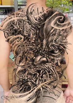 Back Tattoos, Chinese Style, Lunges, Hair Styles, Beauty, Japanese, Cover, Oriental Tattoo, Japanese Tattoos