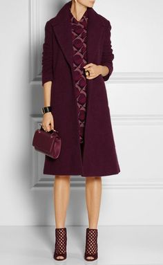 Marc by Marc Jacobs - Rex wool-blend coat Net Fashion, Fashion Brands, Fashion Outfits, Madrid, Marc Jacobs Dress, Business Dresses, Autumn Winter Fashion, Fall Fashion, Wool Blend