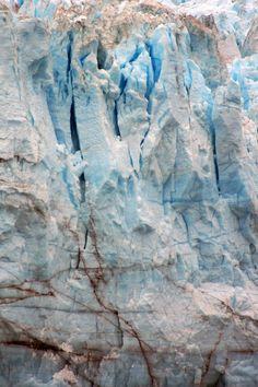 Closeup of the Marjorie glacier in Alaska