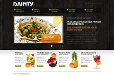 Template 25681 - Dainty Cafe Website Template