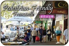 Shopping in Fremantle, WA - A Pedestrian Friendly City, Fremantle offers outstanding shopping opportunities. Western Australia, Australia Travel, Bus Map, High Street Stores, Buses And Trains, Shopping Malls, Pedestrian, City, Cities