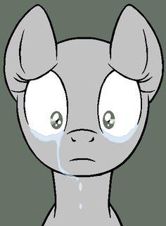 Sad Pony Base (MS paint version) by Ask-Flare22 ...